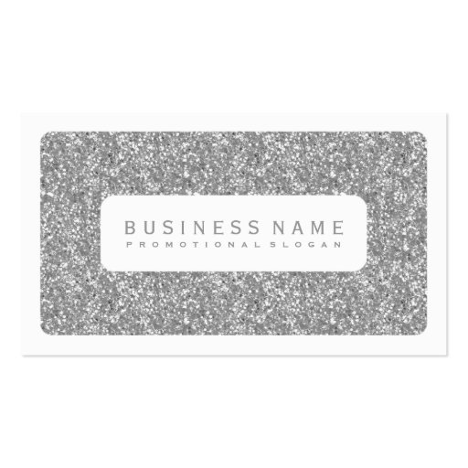 Simple Silver Glitter Double Sided Standard Business Cards