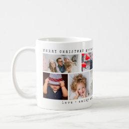 Simple Six Photo Collage | Christmas Coffee Mug