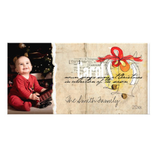 simple sketch doodle christmas photo card