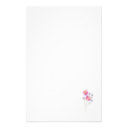Simple sketchily Drawn Daisies Customised Stationery