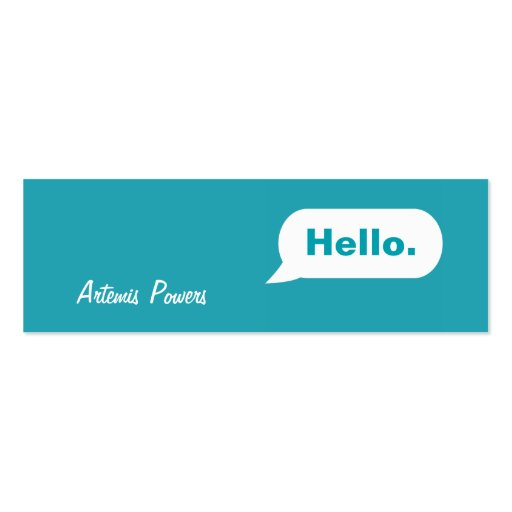 simple skinny im message business card blue zazzle