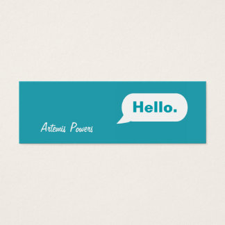 Simple Skinny IM Message Business Card blue