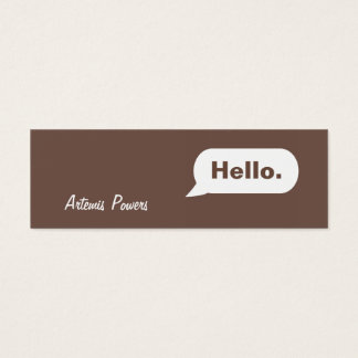 Simple Skinny IM Message Business Card brown