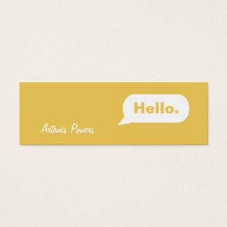 Simple Skinny IM Message Business Card mustard