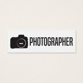 Simple Skinny Photographer Business Card
