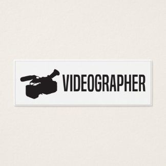 Simple Skinny Videographer Business Card