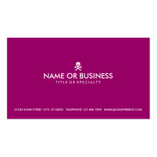 simple skull and crossbones (color customizable) Double-Sided standard business cards (Pack of 100)