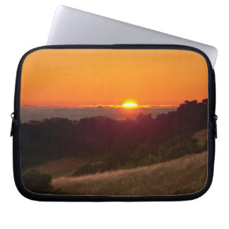 Simple sleeve with beautiful California sunset Laptop Computer Sleeves