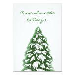 Simple Snow Pine Invitation