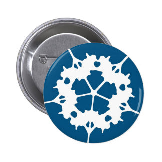 Simple Snowflake Holiday Button