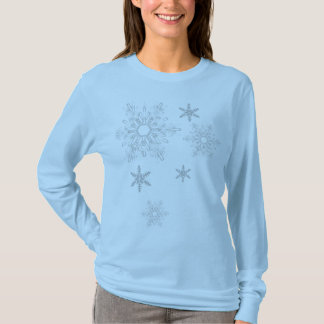 Simple snowflake long sleave T T-Shirt