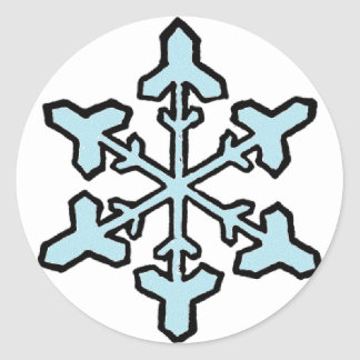 simple snowflake sticker