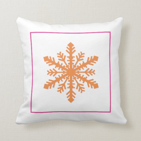 Simple Snowflake Throw Pillow