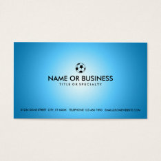 Simple Soccer Business Card at Zazzle