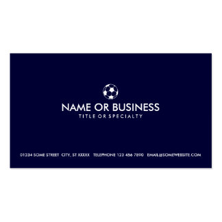 simple soccer business card templates