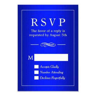 Simple Sophisticated Royal Blue Wedding RSVP Card