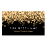 Simple Sparkle Gold Lights Business Card Templates
