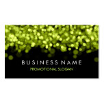 Simple Sparkle Green Lights Business Card Template