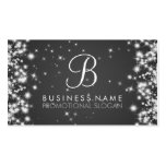 Simple Sparkle Monogram Black Double-Sided Standard Business Cards (Pack Of 100)