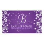 Simple Sparkle Monogram Purple Business Cards