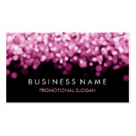 Simple Sparkle Pink Lights Business Card Template