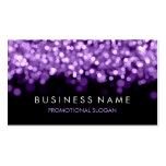 Simple Sparkle Purple Lights Double-Sided Standard Business Cards (Pack Of 100)