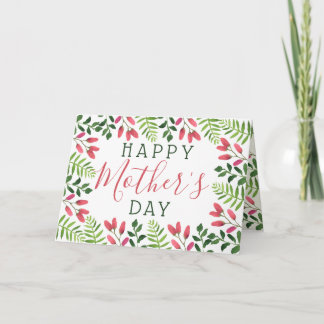 Simple Spring Blossom Happy Mother's Day Card
