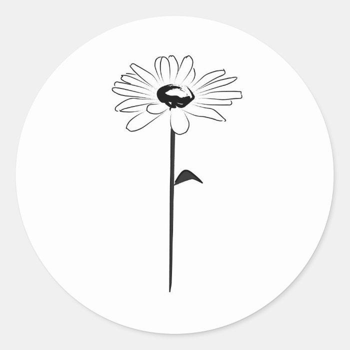Simple Spring Daisy Classic Round Sticker