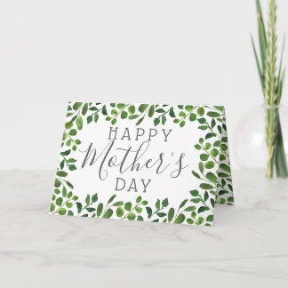 Simple Spring Foliage Happy Mother's Day Card
