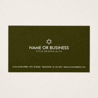 simple star of david business card