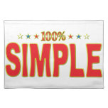 Simple Star Tag Place Mat