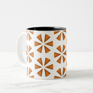 Simple starburst design Two-Tone coffee mug