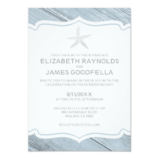 Simple Starfish Beach Wedding Invitations Invitation
