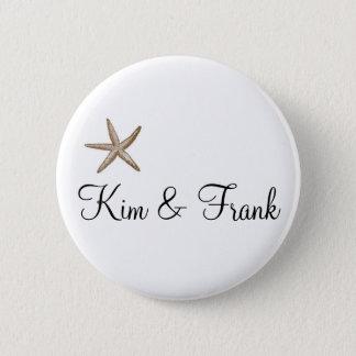 Simple starfish pinback button