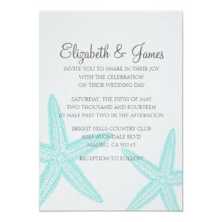 Simple Starfish Wedding Invitations Announcements