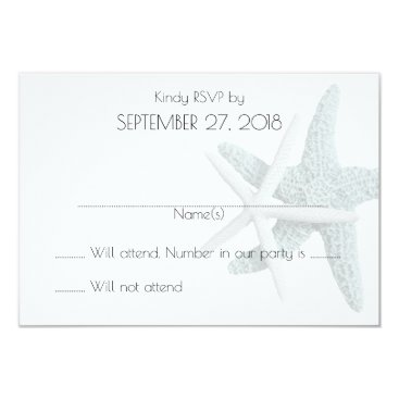 Beach Themed Simple Starfish White Wedding Reply Cards