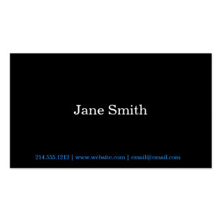 Simple Statement Business Cards