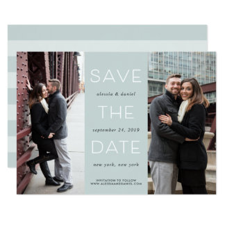 Simple Statement | Two Photo Save the Date Card