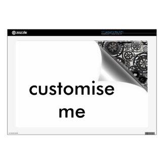 simple steam punk corner paper design laptop decals