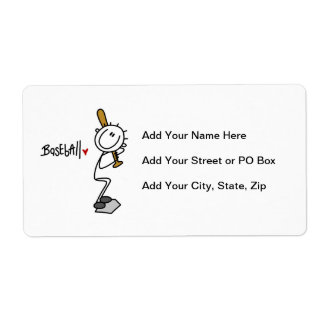 Simple Stick Figure Baseball T-shirts and Gifts Label