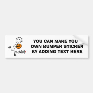 Simple Stick Figure Basketball T-shirts and Gifts Bumper Sticker