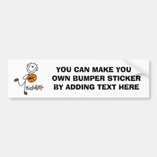 Simple Stick Figure Basketball T-shirts and Gifts Bumper Stickers