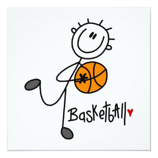 Simple Stick Figure Basketball T-shirts and Gifts Card