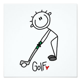 Simple Stick Figure Golfer Card