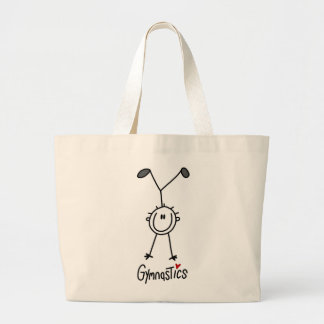 Simple Stick Figure Gymnast Canvas Bag