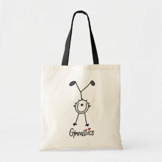 Simple Stick Figure Gymnast Tote Bags