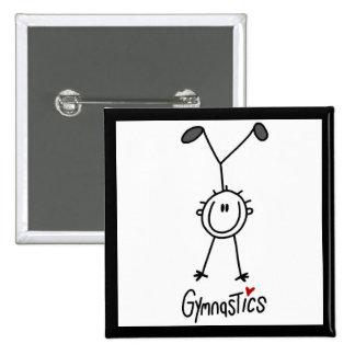 Simple Stick Figure Gymnast Button