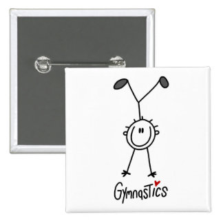 Simple Stick Figure Gymnast Pin