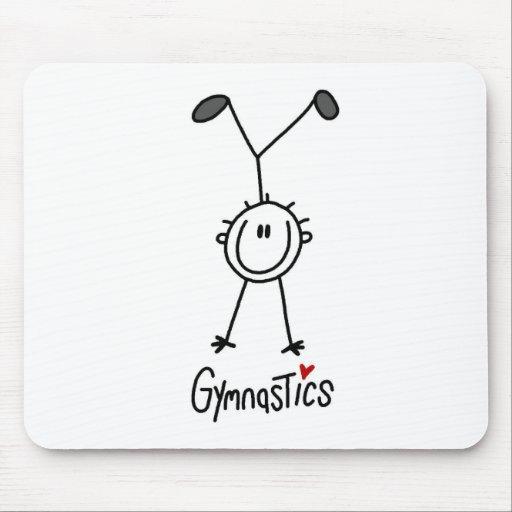 Simple Stick Figure Gymnast Mousepads