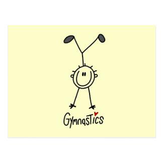 Simple Stick Figure Gymnast Postcard